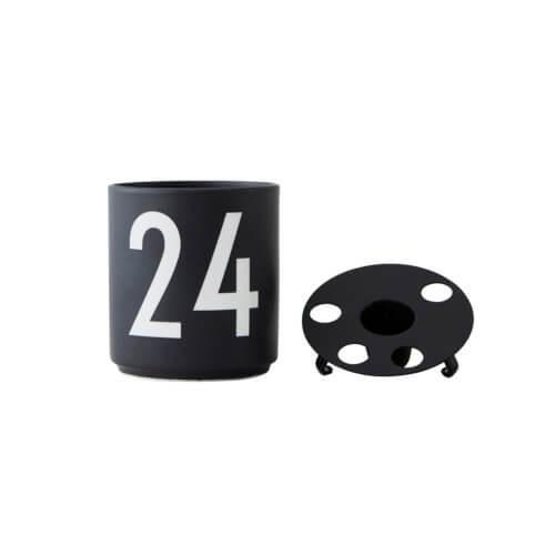 Design Letters Becher 24 mit separatem Kerzeneinsatz