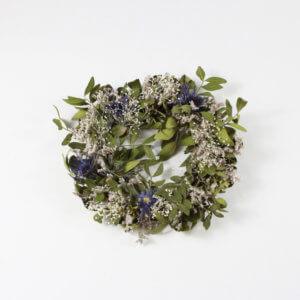 Kranz aus Trockenblumen Eukalyptus