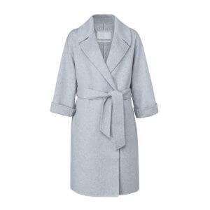 YAYA Wollmix-Mantel Grau-Meliert