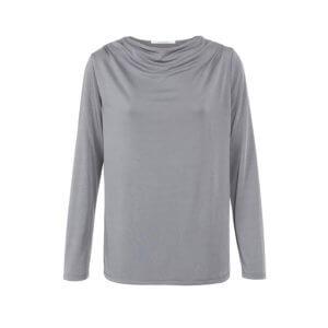 YAYA Langarmshirt Silber-Grau