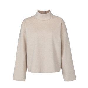 YAYA Stehkragen-Sweater Greige